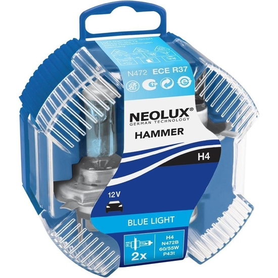 Picture of H4 Neolux Hammer Blue Duo